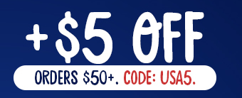 $5 off Orders $50+. Code: USA5
