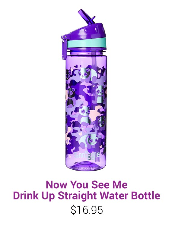 Now You See Me Drink Up Straight Water Bottle