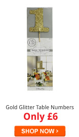 Gold Glitter Table Numbers