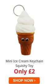 Mini Ice Cream Keychain Squishy Toy