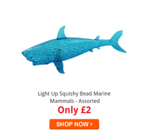 Light Up Squishy Bead Marine Mammals - Assorted