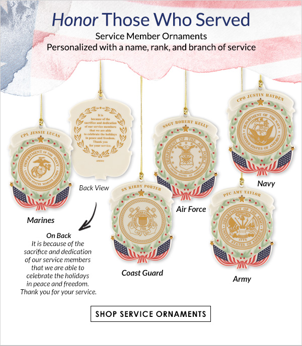 Honor Those Who Served - Service Member Ornaments