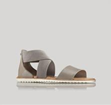 Profile of a flat sandal.