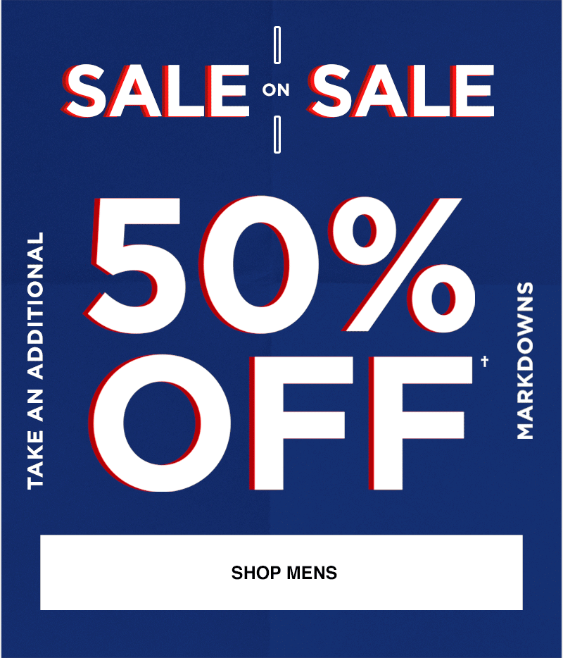 Take An Additional 50% Off Markdowns - Shop Mens