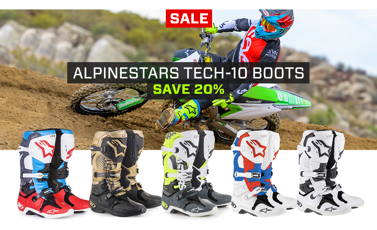 Alpinestars Tech-10 Boots - Save 20%
