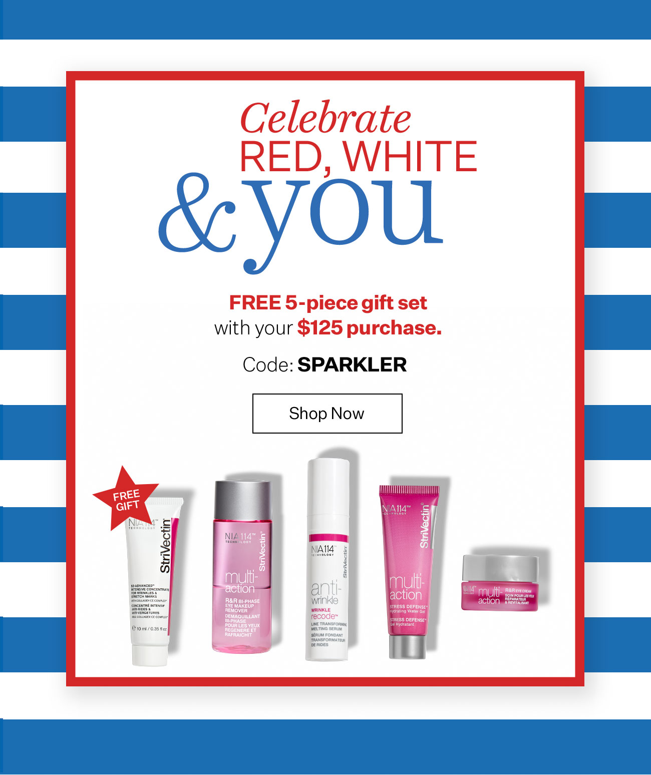 Free 5-Piece Gift With $125 Purchase
