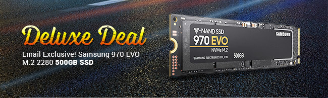 Deluxe Deal - Deluxe Deal - Email Exclusive! Samsung 970 EVO M.2 2280 500GB SSD