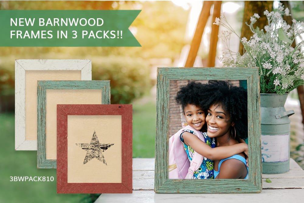 New Barnwood Frames in 3 Packs