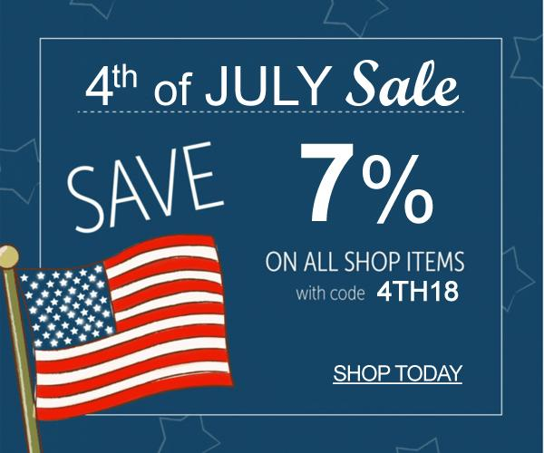 4th July 7% OFF Sale Event