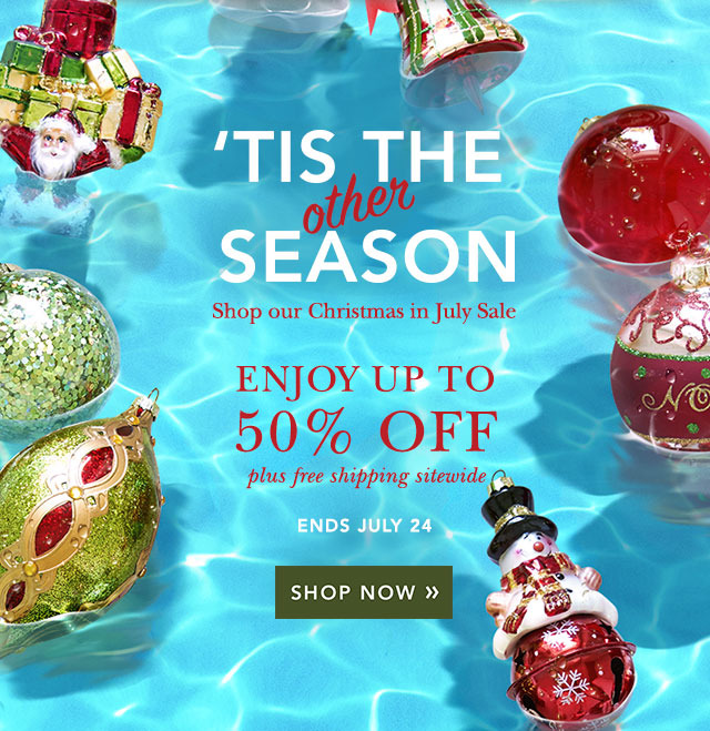 balsam hill christmas in july sale