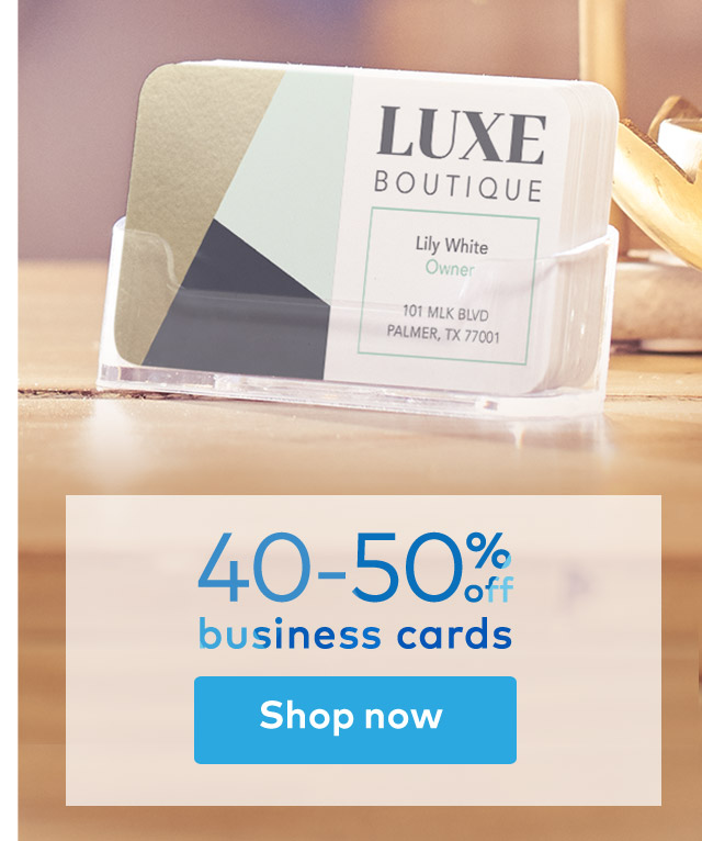 40-50% off business cards