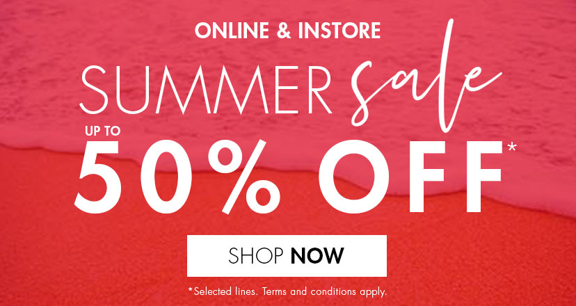 Summer Sale. Up to 50% OFF*