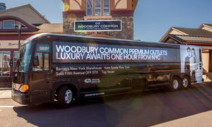 40% Off Round-Trip bus to Woodbury Common Premium Outlets