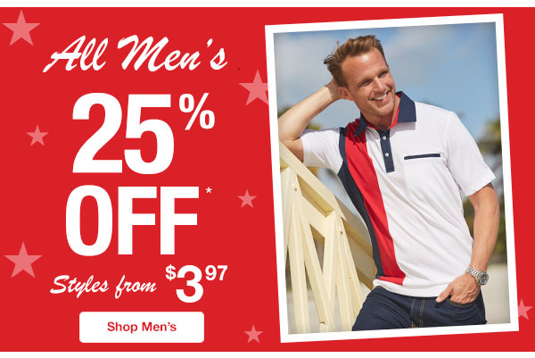 All Men's On Sale!