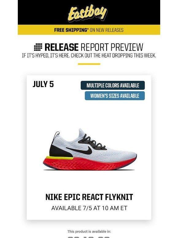 fdc5c8bd9b83b Eastbay  Launch Preview  Jordan Retro 1 + Nike Epic React launching soon!