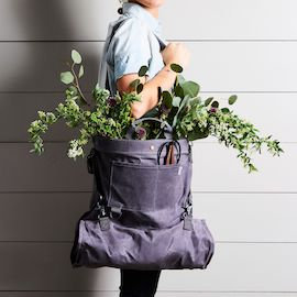 Waxed Canvas Gather Bag with Waterproof Liner