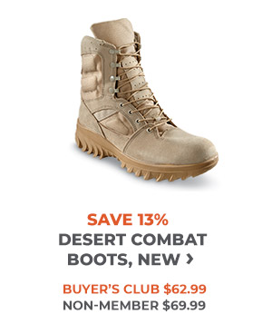 Savings of 13% Desert Combat Boots