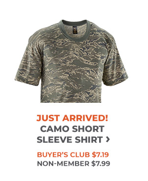 Just Arrived Camo Short Sleeve Shirt