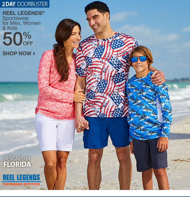 Shop 50% Off Reel Legends Sportswear