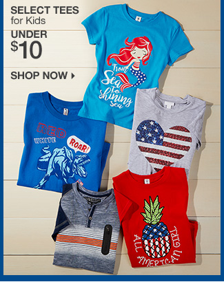 Shop under $10 Tees for Kids