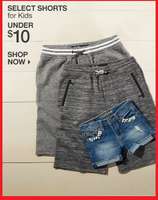 Shop under $10 shorts for kids