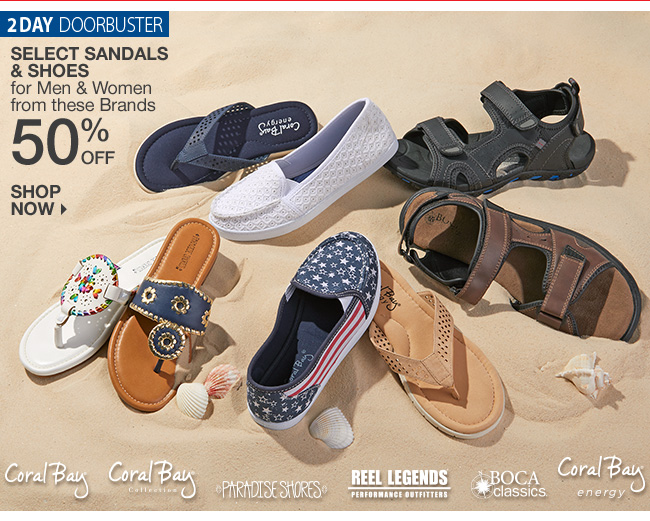 Shop 50% Off Sandals & Shoes