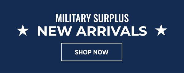 Shop New Arrivals Military Surplus