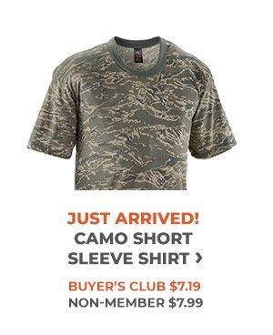 Just Arrived Camo Short Sleeve Shirt