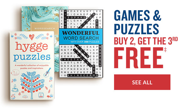 GAMES & PUZZLES: BUY 2, GET THE 3RD FREE - SEE ALL