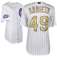 Jake Arrieta Chicago Cubs Fanatics Authentic Autographed Majestic Gold Replica Jersey