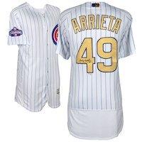 Jake Arrieta Chicago Cubs Fanatics Authentic Autographed Majestic Gold Authentic Jersey