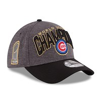 Chicago Cubs New Era 2016 World Series Champions Locker Room On Field 39THIRTY Flex Hat - Graphite/Black