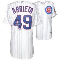 Jake Arrieta Chicago Cubs Fanatics Authentic Autographed White Authentic Jersey