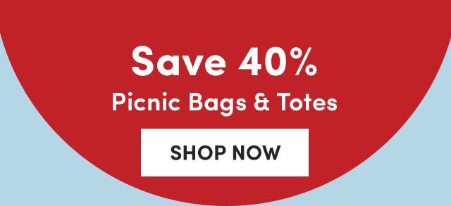 Save 40% Picnic Bags & Totes