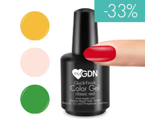 myGDN Quick-Finish Color Gele in ausgewhlten Farbtnen 15ml