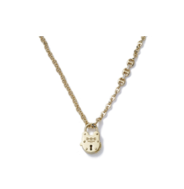 Hoorsenbuhs Open-Link 18k Gold Necklace with Lock $13,200