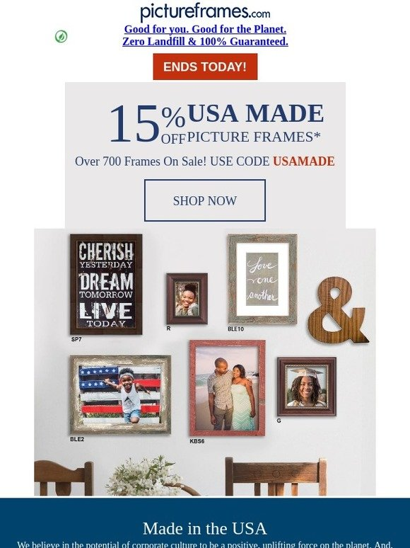 Pictureframes Last Chance For 15 Off Usa Made Frames Milled