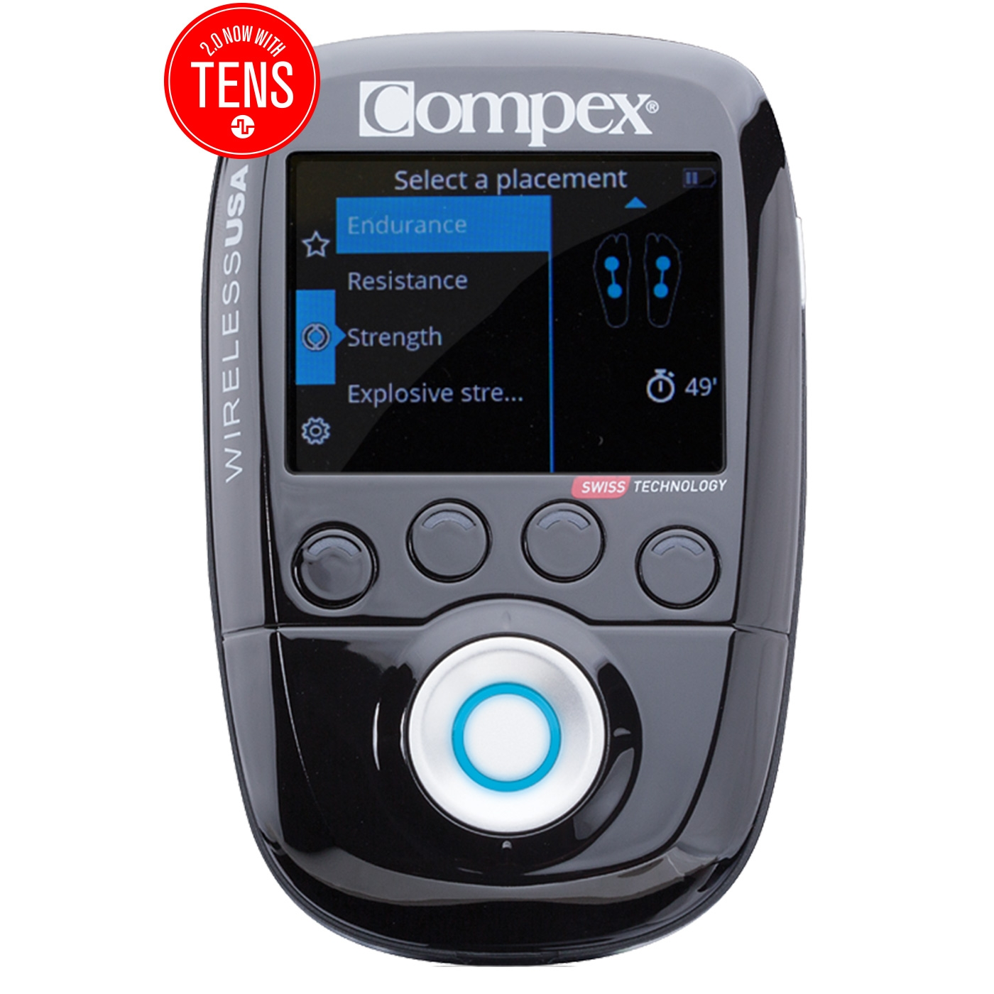Compex Wireless USA 2.0 Muscle Stimulator Kit with TENS