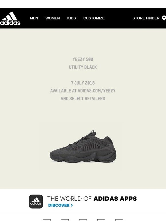more photos c0bfb c0ce6 Adidas: YEEZY 500 UTILITY BLACK - AVAILABLE JULY 7 2018 | Milled