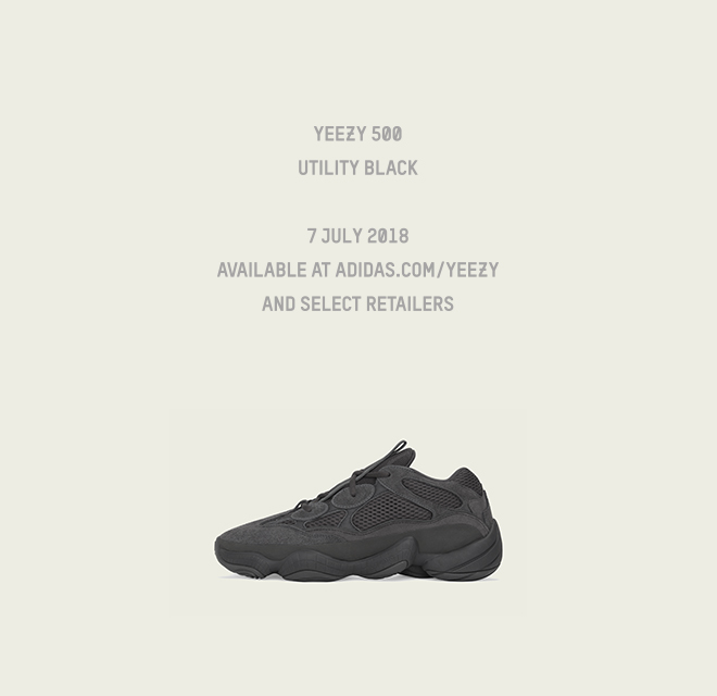 more photos 72ba6 4dc99 Adidas: YEEZY 500 UTILITY BLACK - AVAILABLE JULY 7 2018 | Milled