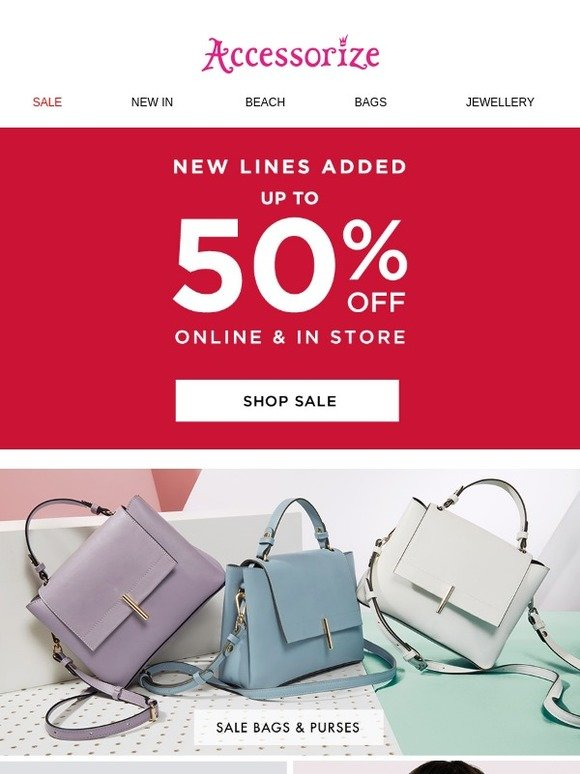 cute cheap sale retailer coupon code Accessorize: New lines added to the up-to-50%-off sale | Milled