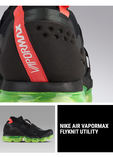 100% authentic 3fba7 04559 Footaction : Nike Air VaporMax Flyknit Utility in Black/Volt ...