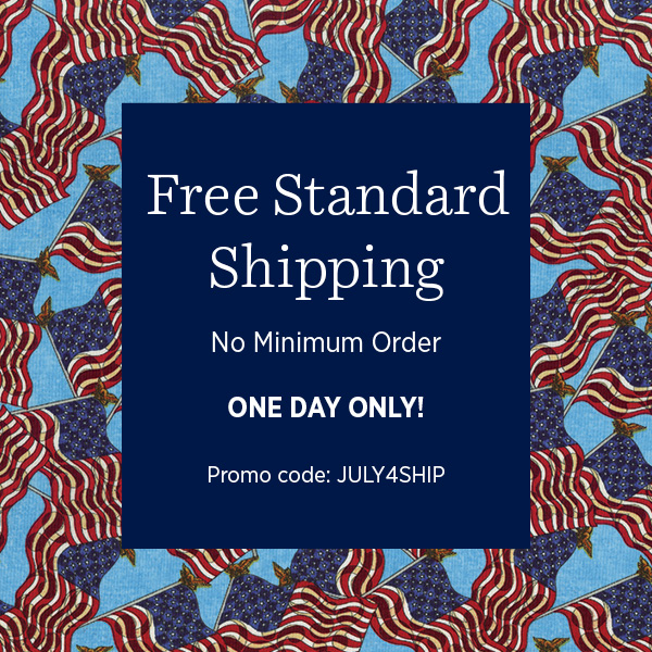 Free Standard Shipping, Today Only