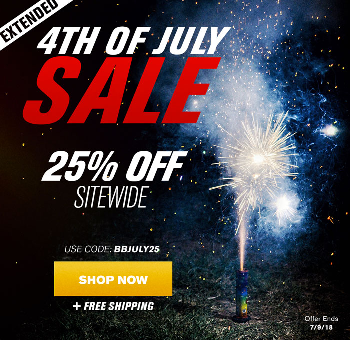 4th Of July Sale - Extra 25% Off Sitewide