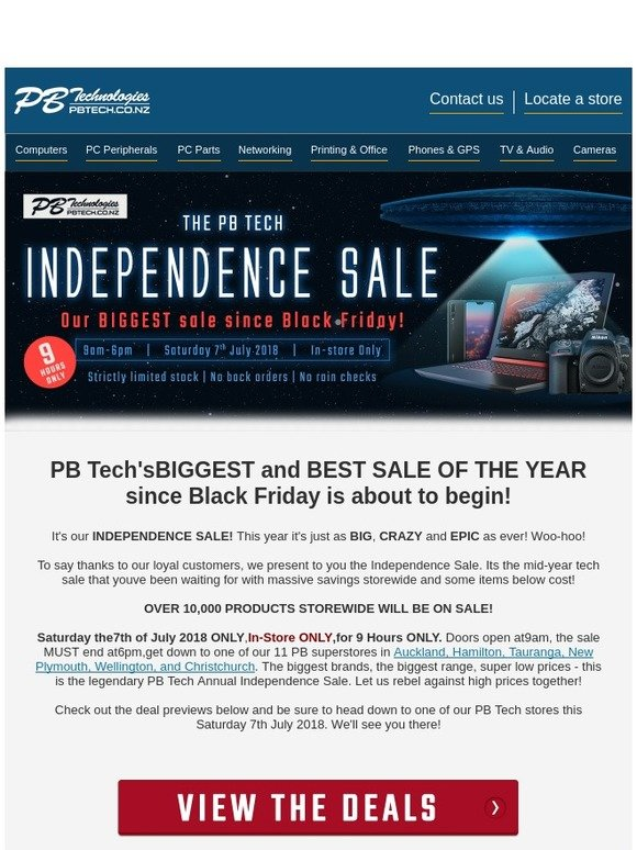 Pb Tech Deals Revealed The Pb Tech Independence Sale Milled