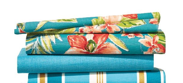 Your total purchase of Outdoor Fabric.