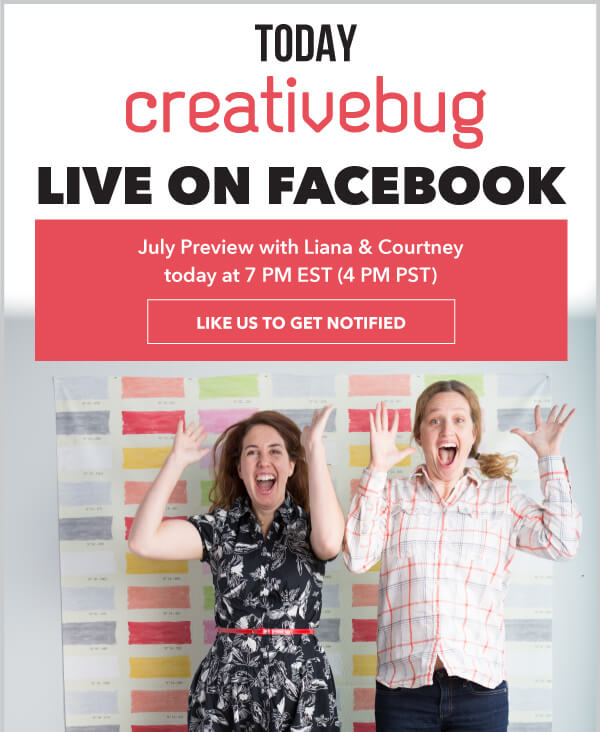 Creative Bug Facebook Live.