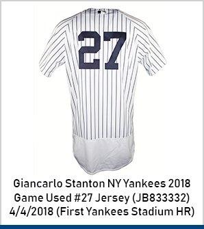 various colors 026e0 f3b63 Steiner Sports: ✨ Giancarlo Stanton's First Yankee Stadium ...