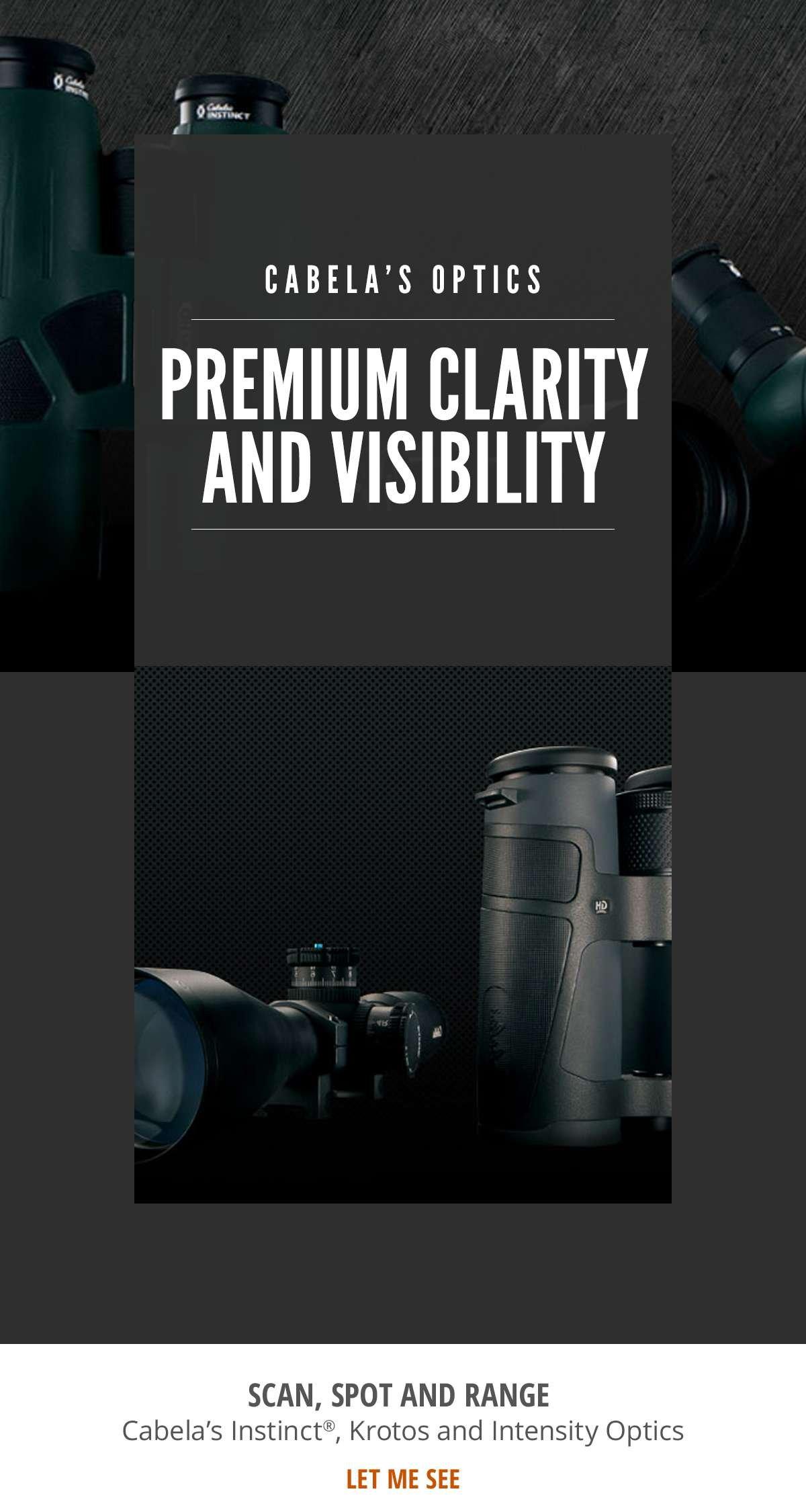 Cabela's Optics - Premium Clarity and Visibility - Shop Now