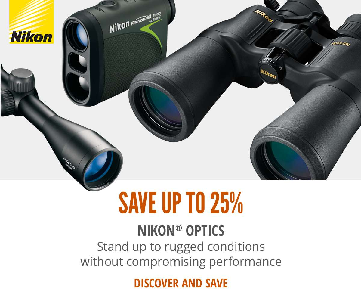 Save up to 25% on Nikon Optics